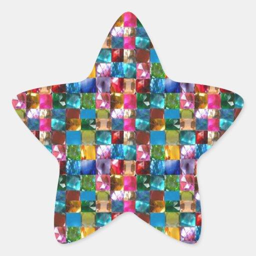 El cristal de la joya de NOVINO empiedra el REGALO Pegatina Forma De Estrella