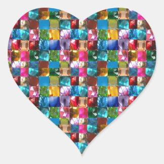 El cristal de la joya de NOVINO empiedra el REGALO Pegatina En Forma De Corazón