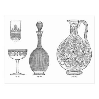 El cristal tallado diseña 1 del Dr. Christopher Tarjeta Postal