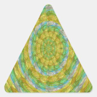 El cristal verde de la rueda de CHAKRA gotea los Pegatina De Triangulo