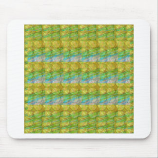 El cristal verde de oro de GOODLUCK gotea los Tapete De Ratones