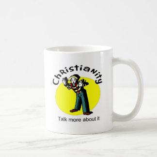 El cristianismo, habla más sobre él con mime taza básica blanca