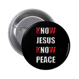El cristianismo sabe que Jesús sabe paz Pin Redondo De 2 Pulgadas