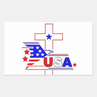 El cristiano americano rectangular altavoz