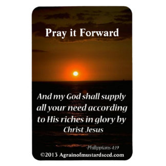 El cristiano cita inspirado iman de vinilo