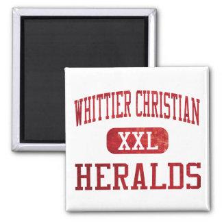 El cristiano de Whittier anuncia el atletismo Imán Cuadrado