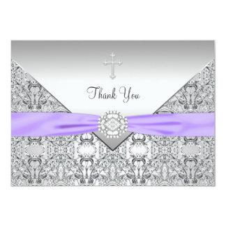 """El cristiano elegante cruzado púrpura le agradece invitación 5"""" x 7"""""""