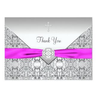 """El cristiano elegante cruzado rosado le agradece invitación 5"""" x 7"""""""