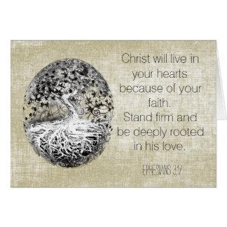 El cristiano le agradece cardar tarjeta pequeña