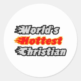 El cristiano más caliente del mundo pegatina redonda