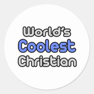 El cristiano más fresco del mundo etiquetas redondas