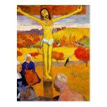 El Cristo amarillo de Paul Gauguin Postal