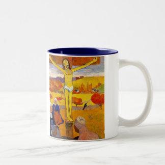 El Cristo amarillo de Paul Gauguin Tazas