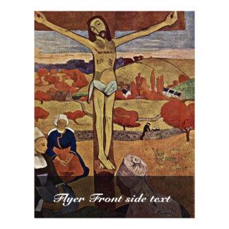 El Cristo amarillo, por Gauguin Paul (la mejor cal Tarjetas Informativas