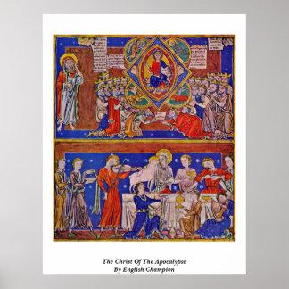 El Cristo de la apocalipsis del campeón inglés Póster