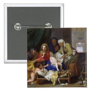 El Cristo durmiente, 1655 Pin Cuadrada 5 Cm