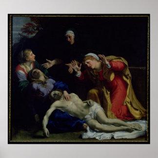 El Cristo muerto estado de luto, c.1604 Póster