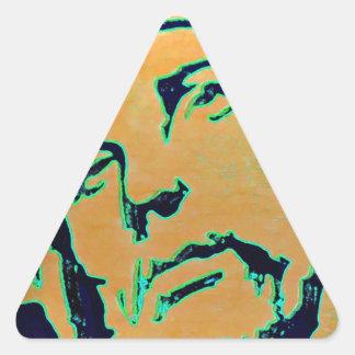 El Cristo Pegatina Triangular