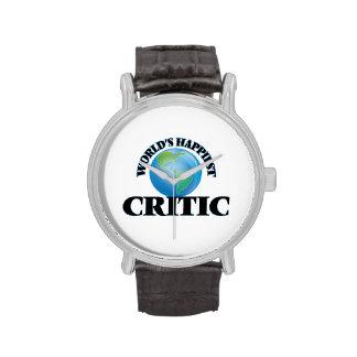 El crítico más feliz del mundo relojes de pulsera