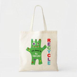 El Critter es verde - recicle el bolso Bolsa