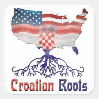 El croata americano arraiga a los pegatinas