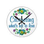 El Crocheting al amor Reloj