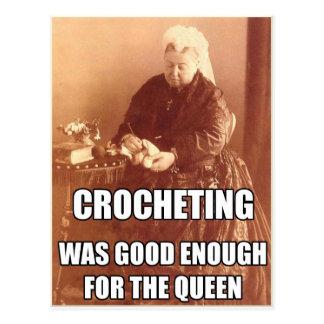 El Crocheting: Bastante bueno para la reina Tarjetas Postales