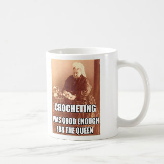 El Crocheting Bastante bueno para la reina Taza