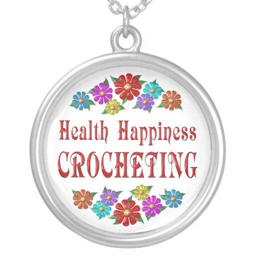 El Crocheting de la felicidad de la salud Joyeria
