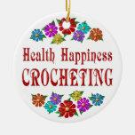 El Crocheting de la felicidad de la salud Ornamento Para Reyes Magos