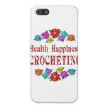 El Crocheting de la felicidad de la salud iPhone 5 Cárcasa