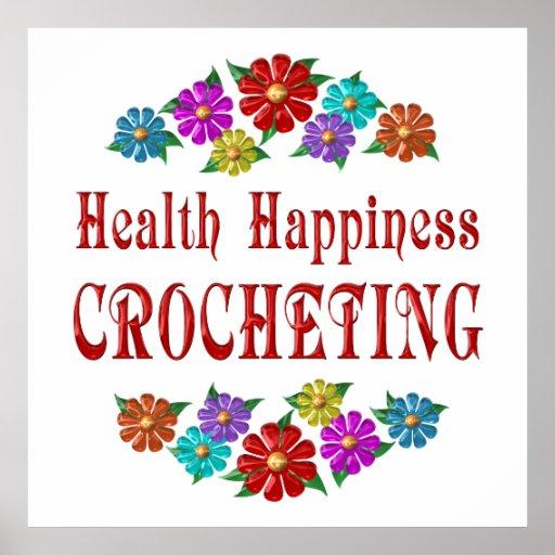 El Crocheting de la felicidad de la salud Poster