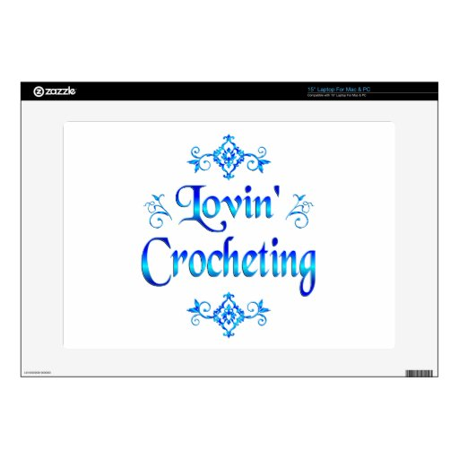 El Crocheting de Lovin Calcomanías Para 38,1cm Portátiles