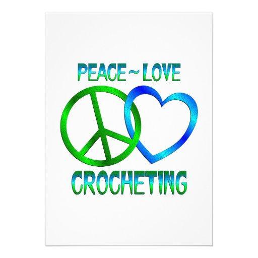 El CROCHETING del amor de la paz Invitaciones Personalizada