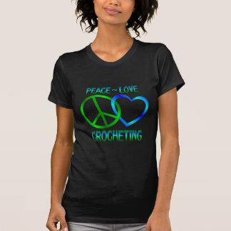 El CROCHETING del amor de la paz Playera