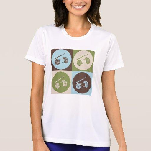 El Crocheting del arte pop Camisetas