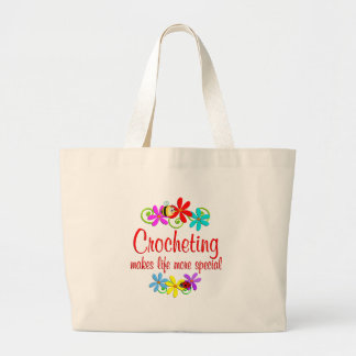 El Crocheting es especial Bolsa Tela Grande