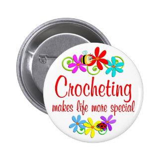 El Crocheting es especial Pin Redondo 5 Cm