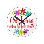 El Crocheting es especial Reloj