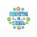 El Crocheting es fresco Tarjeta Postal