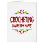 El Crocheting hace vida feliz Felicitaciones