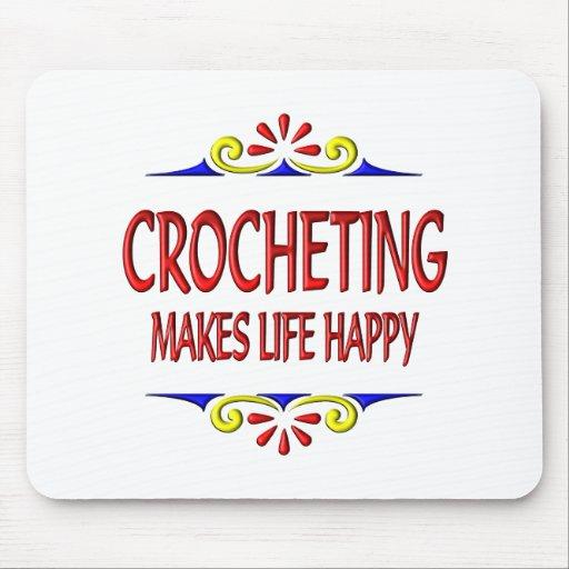 El Crocheting hace vida feliz Tapete De Ratones