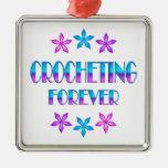 El Crocheting para siempre Adorno Para Reyes
