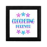 El Crocheting para siempre Cajas De Recuerdo