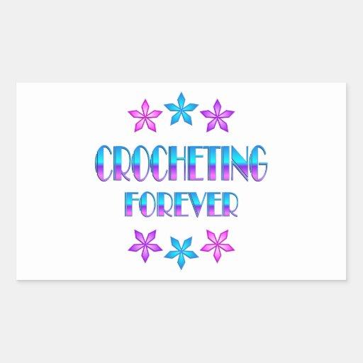El Crocheting para siempre Etiqueta