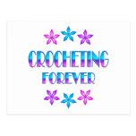 El Crocheting para siempre Postal