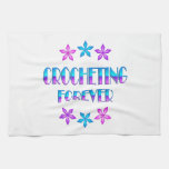 El Crocheting para siempre Toallas De Mano