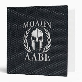 """El cromo de Molon Labe tiene gusto del casco Carpeta 1 1/2"""""""