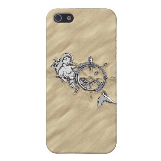 El cromo de plata tiene gusto de la sirena en la iPhone 5 fundas