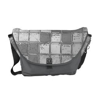 El cromo teja la bolsa de mensajero de plata bolsas de mensajeria
